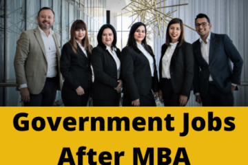 Government Jobs after MBA