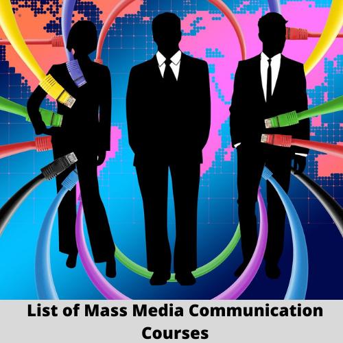 mass media communication courses