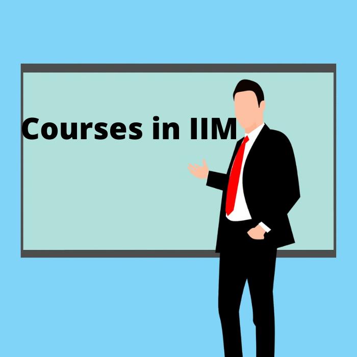 courses in IIM
